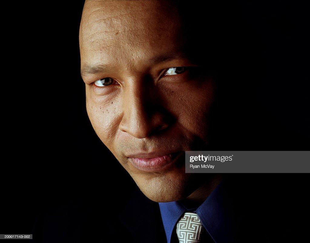 Businessman, portrait, close-up : Stock Photo