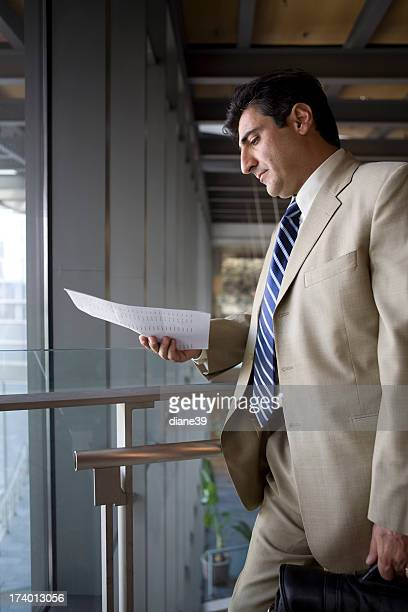 businessman preparing
