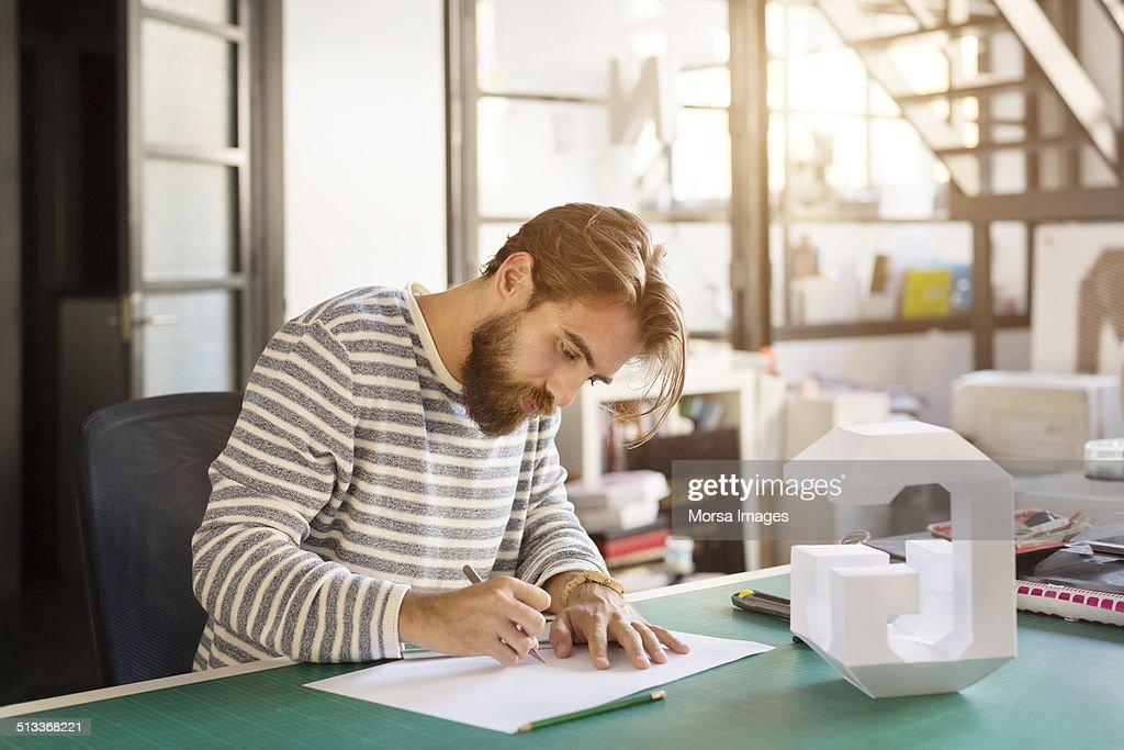 Businessman preparing plan