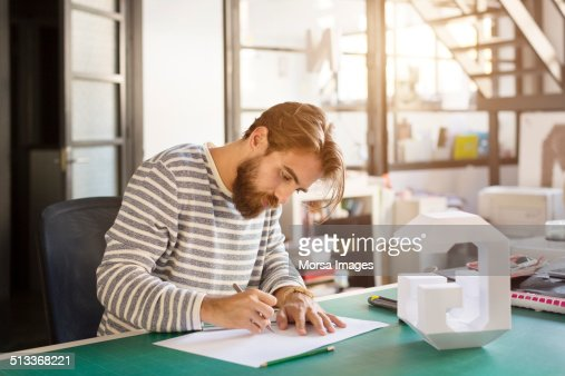 Businessman preparing plan