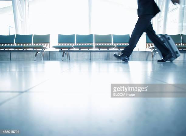 Businessman Pulling Suitcase
