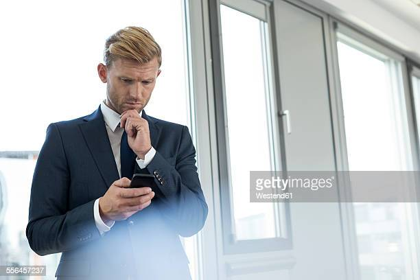 Businessman receiving bad news
