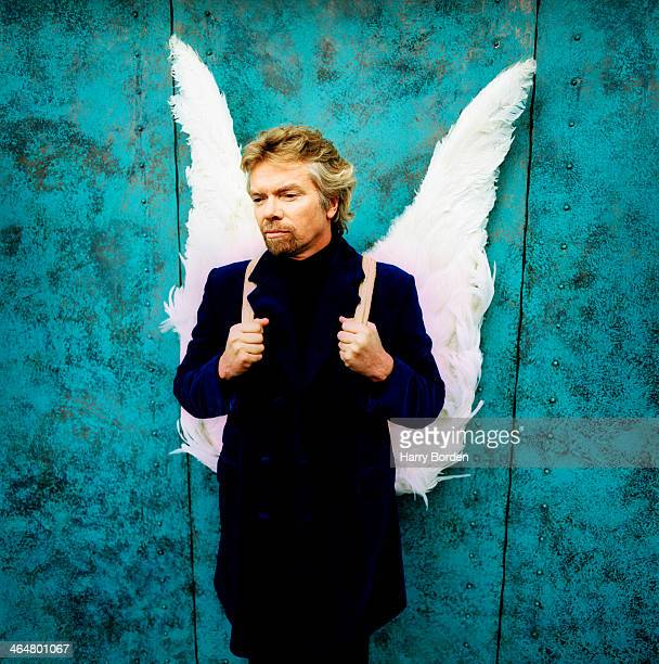 Businessman Richard Branson is photographed for GQ magazine on November 22 1996 in London England