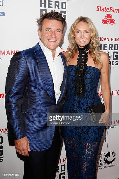 Businessman Robert Herjavec and Kym Johnson attend the Sixth Annual American Humane Association Hero Dog Awards at The Beverly Hilton Hotel on...