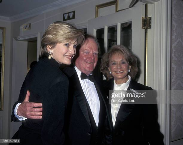 Businessman Roone Arledge and journalists Diane Sawyer and Barbara Walters attend American Museum of the Movine Image Gala Honoring Sherry Lansing...