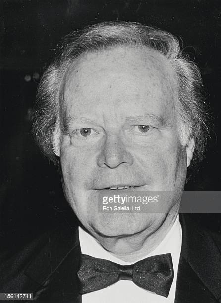 Businessman Roone Arledge attends 15th Annual All Sports Hall of Fame Dinner on October 24 1990 at the Waldorf Hotel in New York City