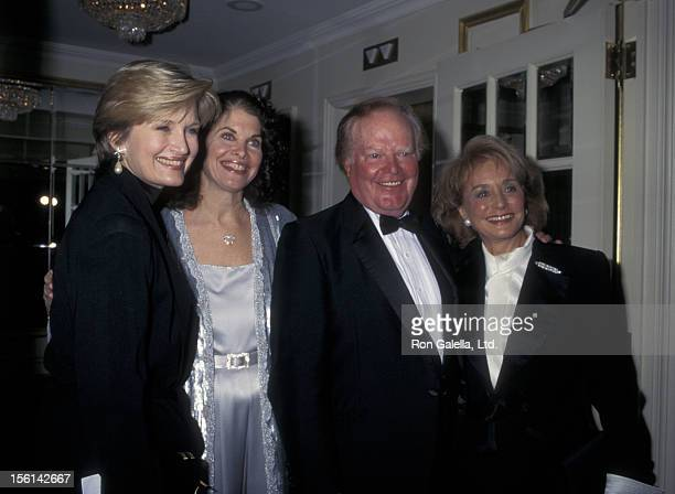 Businessman Roone Arledge journalists Diane Sawyer and Barbara Walters and producer Sherry Lansing attend American Museum of the Movine Image Gala...