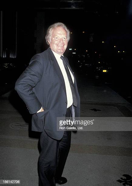 Businessman Roone Arledge sighted on October 11 1985 at the Regency Hotel in New York City
