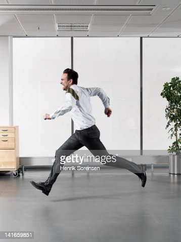 businessman running : Stock Photo