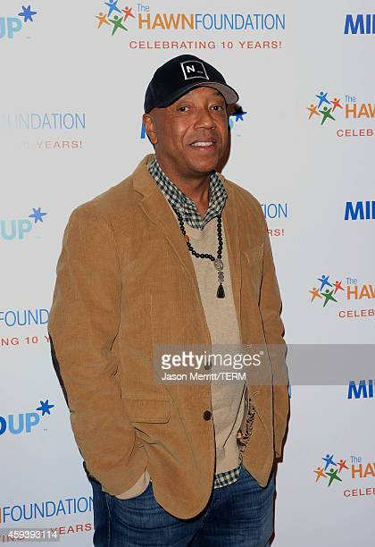 Businessman Russell Simmons attends Goldie Hawn's inaugural 'Love In For Kids' benefiting the Hawn Foundation's MindUp program transforming...