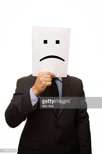 Businessman sad face