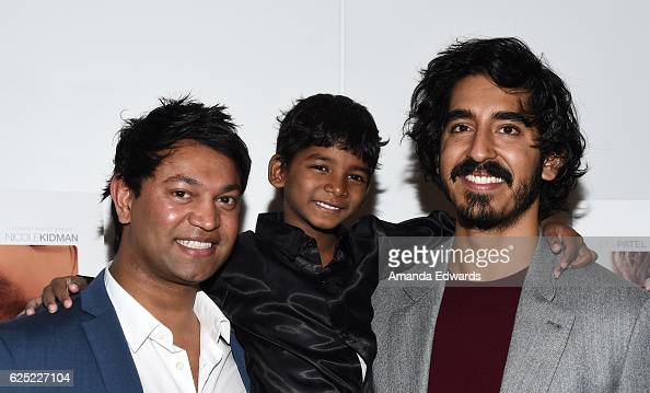Businessman Saroo Brierley and actors Sunny Pawar and Dev Patel attend a special Los Angeles screening of The Weinstein Co's 'Lion' at the Samuel...