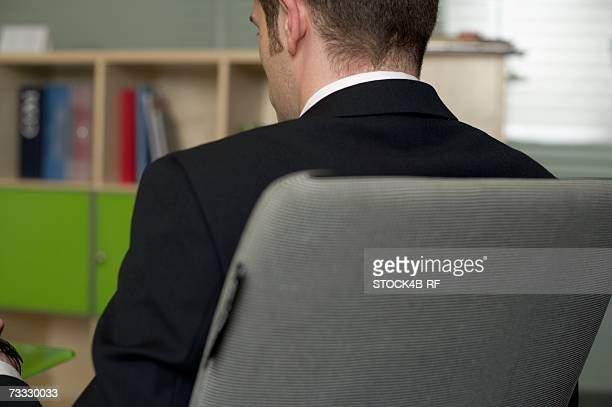 Businessman sitting in his office