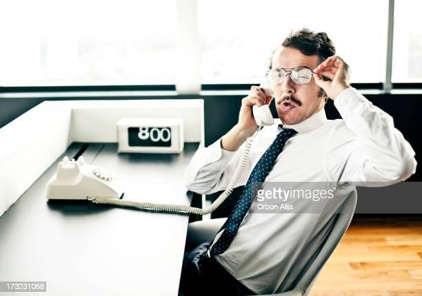 Businessman Sitting on Office