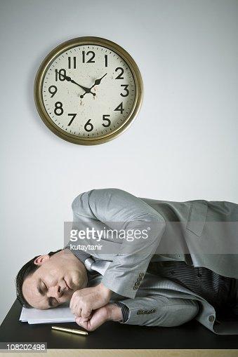 Businessman sleeping : Stock Photo