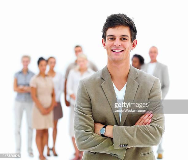 Businessman smiling