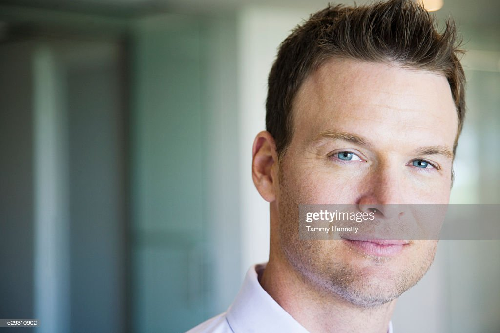 Businessman smiling : Stock Photo