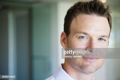 Businessman smiling : Stockfoto