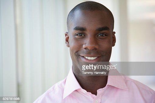 Businessman smiling : Stock-Foto