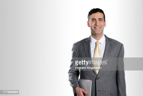 businessman smiling to camera
