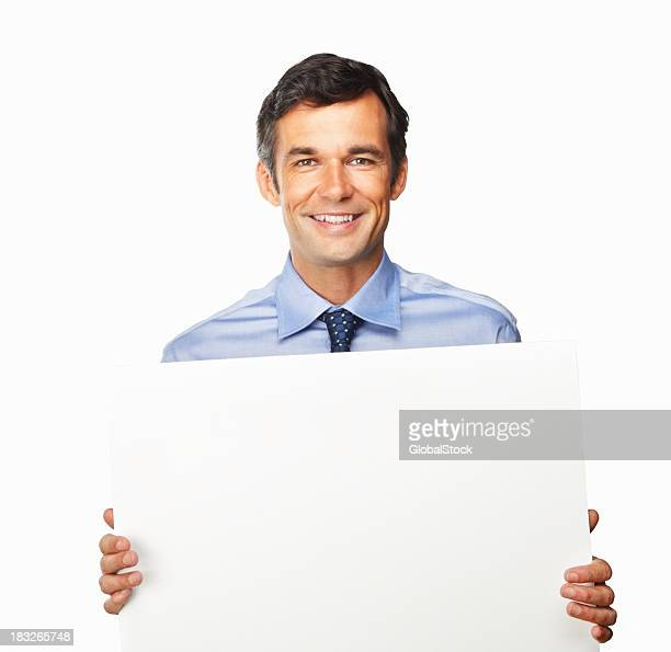 Businessman smiling while presenting