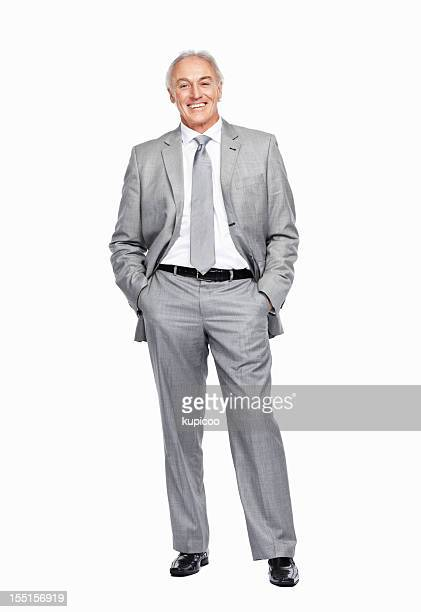 Businessman standing casually