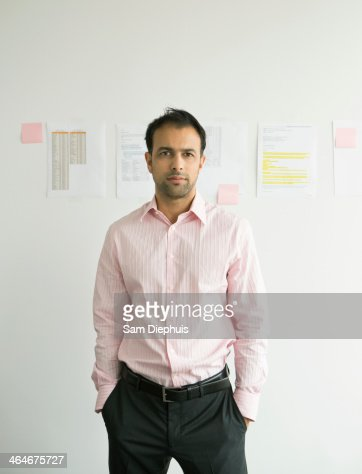 Businessman standing in office