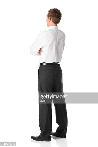 Businessman standing with arms crossed