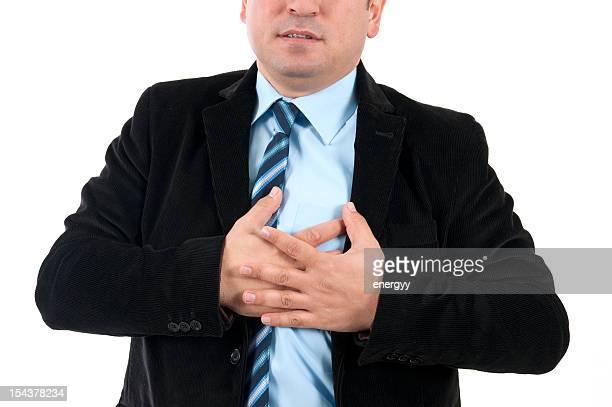 Geschäftsmann leidet einen Herzinfarkt