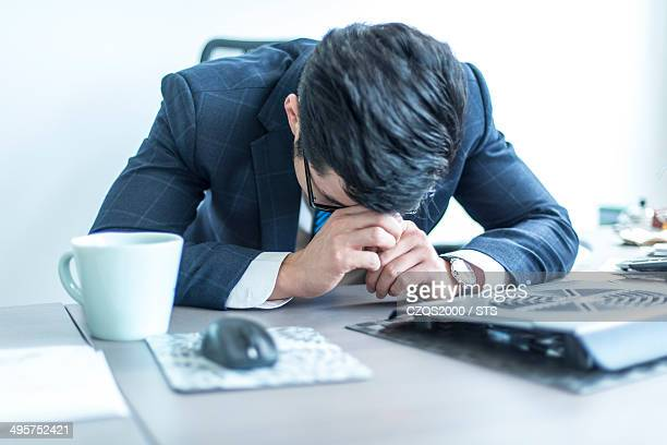businessman taking a nap