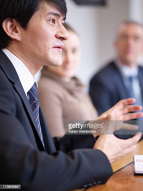 Businessman talking in office