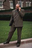 Businessman Talking on a Cellular Phone
