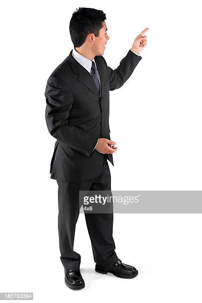 Businessman teaching or presenting