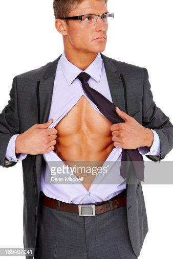 ビジネスマン破断オープンしたシャツ
