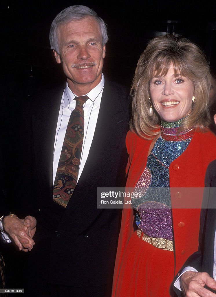 Businessman <a gi-track='captionPersonalityLinkClicked' href=/galleries/search?phrase=Ted+Turner+-+Businessman&family=editorial&specificpeople=203000 ng-click='$event.stopPropagation()'>Ted Turner</a> and actress <a gi-track='captionPersonalityLinkClicked' href=/galleries/search?phrase=Jane+Fonda&family=editorial&specificpeople=202174 ng-click='$event.stopPropagation()'>Jane Fonda</a> attend the 'Casablanca' 50th Anniversary Screening on April 7, 1992 at the Museum of Modern Art in New York City.