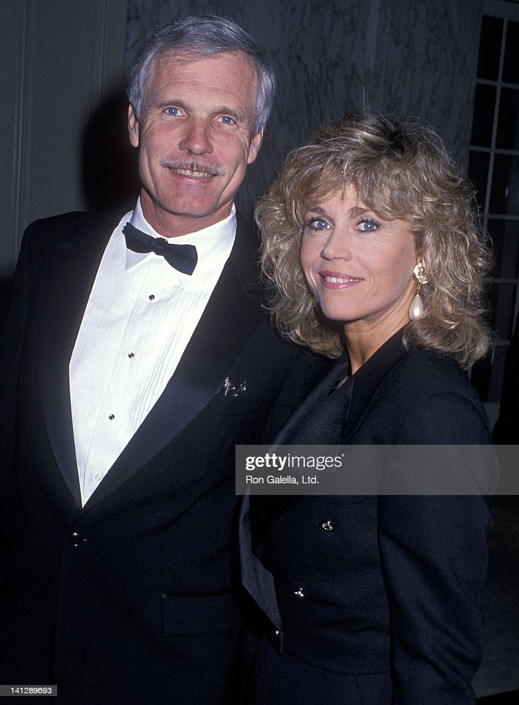 Businessman <a gi-track='captionPersonalityLinkClicked' href=/galleries/search?phrase=Ted+Turner+-+Businessman&family=editorial&specificpeople=203000 ng-click='$event.stopPropagation()'>Ted Turner</a> and actress <a gi-track='captionPersonalityLinkClicked' href=/galleries/search?phrase=Jane+Fonda&family=editorial&specificpeople=202174 ng-click='$event.stopPropagation()'>Jane Fonda</a> attend the Volunteers of America's First Annual Glasnost Award Salute to <a gi-track='captionPersonalityLinkClicked' href=/galleries/search?phrase=Ted+Turner+-+Businessman&family=editorial&specificpeople=203000 ng-click='$event.stopPropagation()'>Ted Turner</a> on March 22, 1990 at the Regent Beverly Wilshire Hotel in Beverly Hills, California.