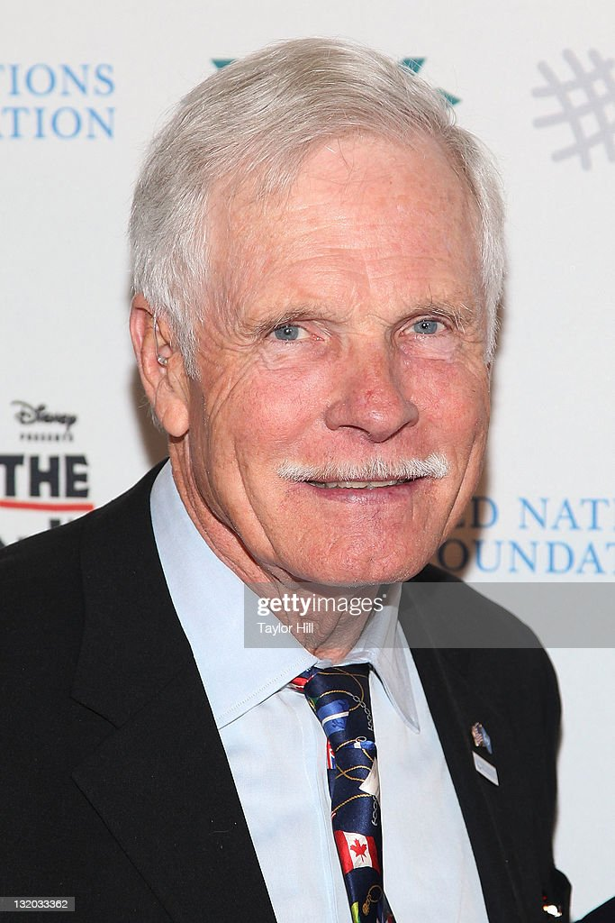 Businessman <a gi-track='captionPersonalityLinkClicked' href=/galleries/search?phrase=Ted+Turner+-+Businessman&family=editorial&specificpeople=203000 ng-click='$event.stopPropagation()'>Ted Turner</a> attends the UN Foundation announces partnership with the Nederlander Organization and Disney's 'The Lion King' at the Minskoff Theatre on November 9, 2011 in New York City.