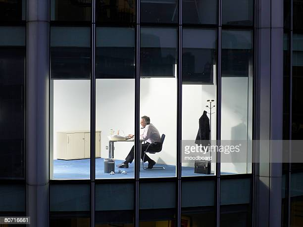 Businessman Telephoning in Office