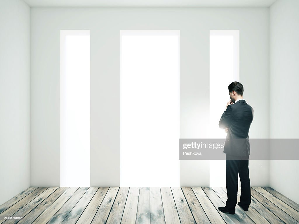 businessman thinking : Stockfoto