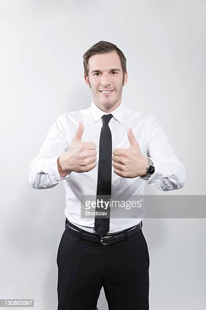 Businessman, thumbs-up