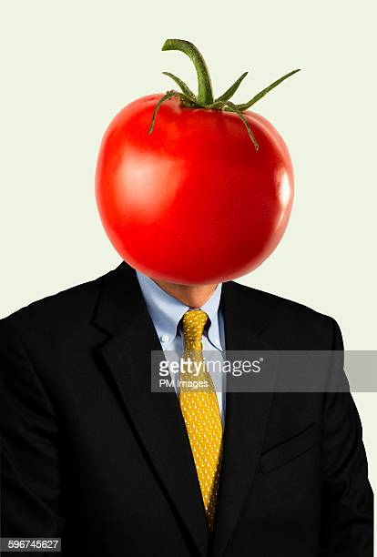 Businessman tomato head