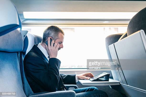 Geschäftsmann Zug Reisende