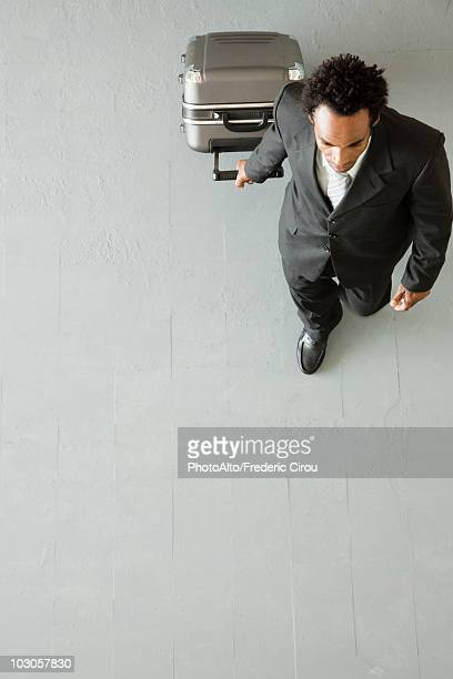 Businessman traveling for business