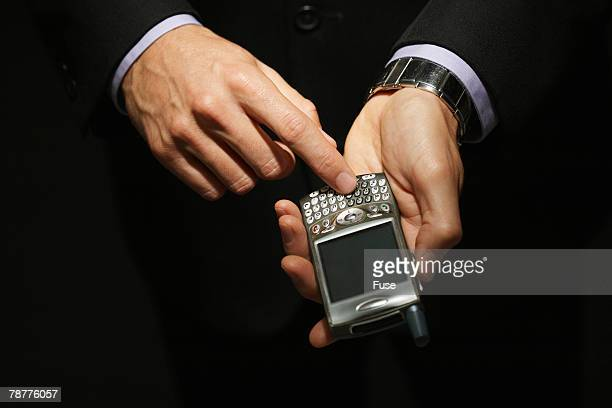 Businessman Using Blackberry