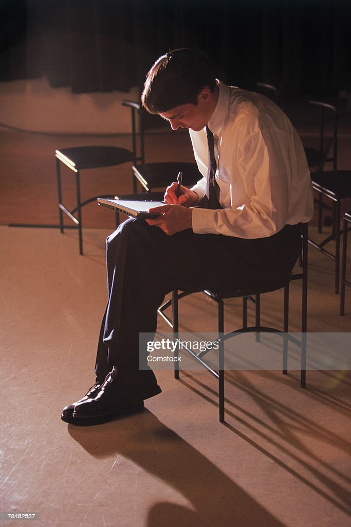 Businessman using tablet pc : Stock Photo