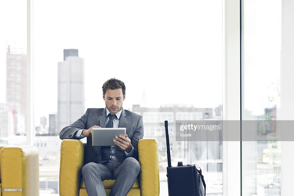 Businessman waiting for a meeting