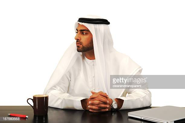Businessman waiting patiently with hands crossed