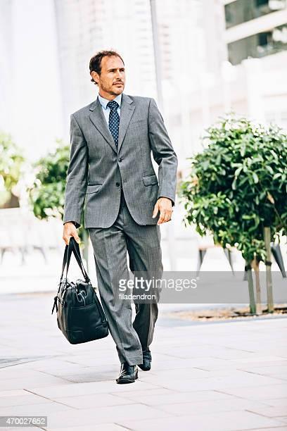 Businessman walking in Dubai