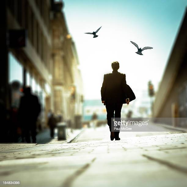 Businessman Walking in the Street