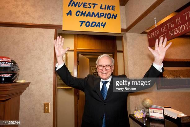 Businessman Warren Buffett photographed for Forbes Magazine on January 31 2012 in Omaha Nebraska